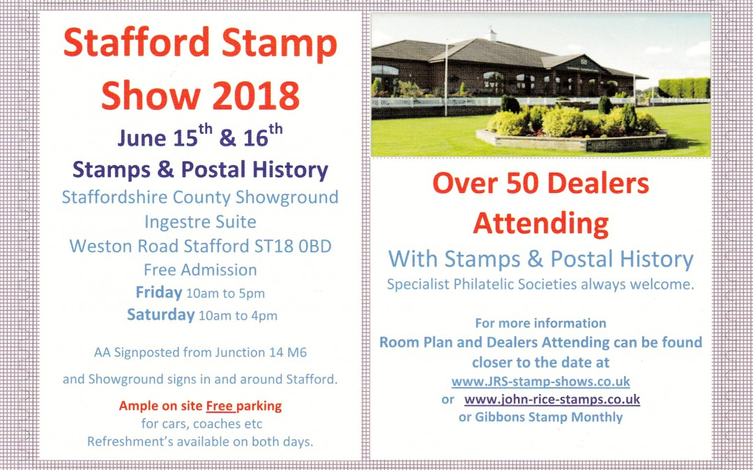 Stafford Stamp Show 2018
